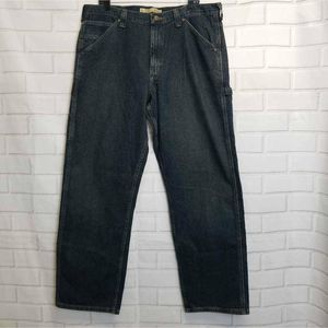 NWT Lee Dungarees Mens Carpenter Jeans Blue 38X32